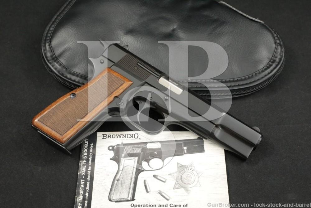 "Browning High Hi Power C-Series 9mm 4 5/8"" Semi-Automatic Pistol, MFD 1976"