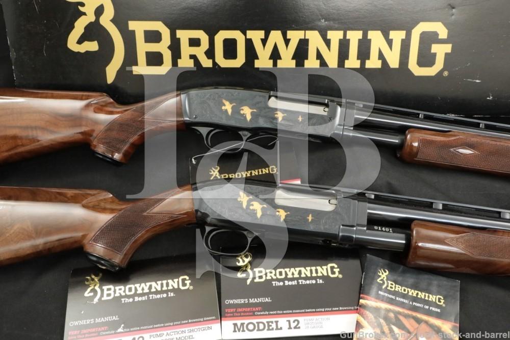 Browning Model 12 & 42 Grade V 20 Gauge & 410 Vent Rib Pump Action Shotguns