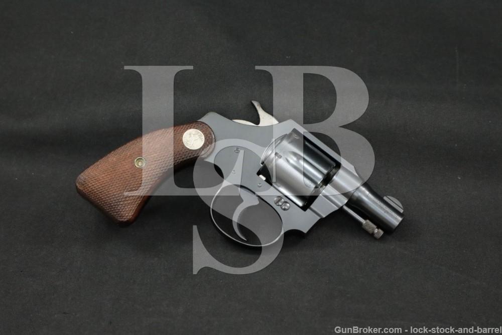 Colt Banker's Special Model .22 LR 2″ Double Action Revolver, MFD 1934 C&R