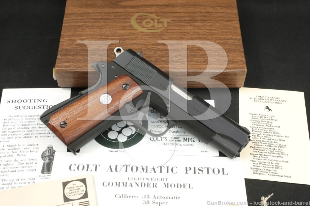 Colt Commander Light Weight CLW 9mm Luger Semi-Automatic Pistol, 1969 C&R
