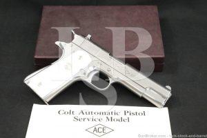 Colt Commercial Ace .22 LR Rimfire Semi-Automatic Target Pistol, 1931 C&R
