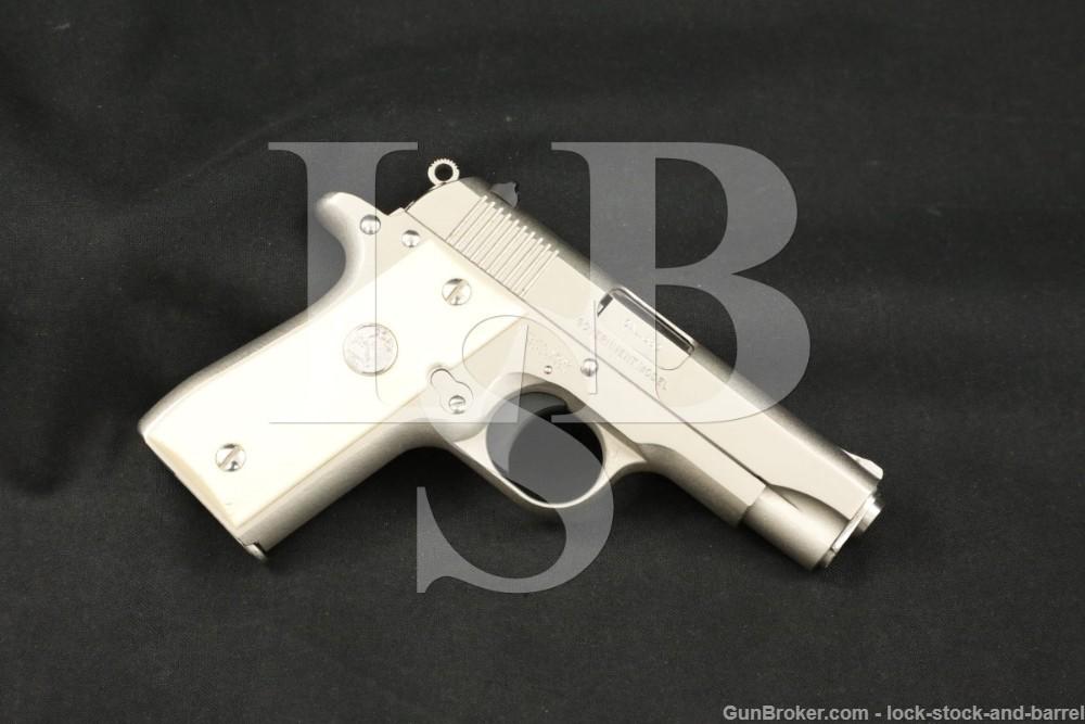"""Colt MK IV Series 80 Government Model 380 ACP 3.25"""" Nickel Semi-Auto Pistol"""
