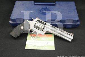 """Colt Model Anaconda .44 Magnum 6"""" Stainless Double Action Revolver MFD 1993"""