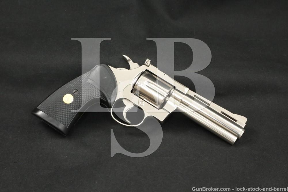 "Colt Model Diamondback D5541 .38 Spl 4"" Nickel DA/SA Revolver MFD 1971"