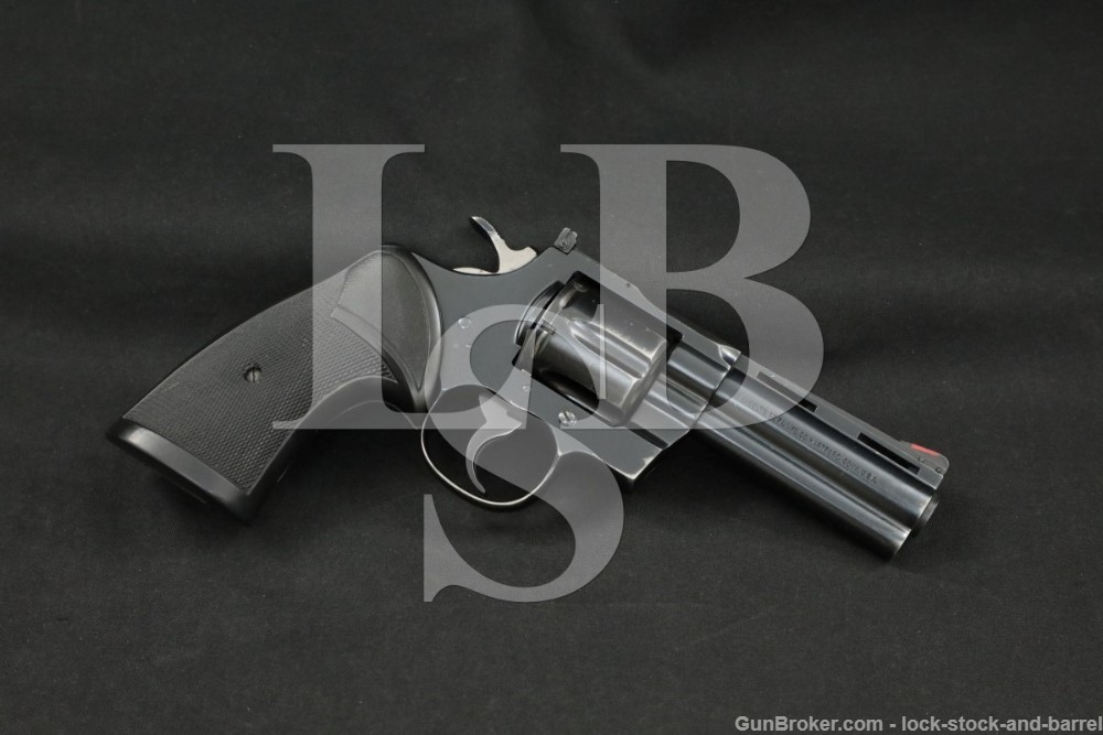 "Colt Model Python I3640 .357 Magnum 4"" Vent Rib DA/SA Revolver MFD 1979"