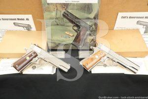 Colt WWII Commemorative ETO & PTO 1911A1 .45 ACP Semi-Auto Pistols 1970 C&R
