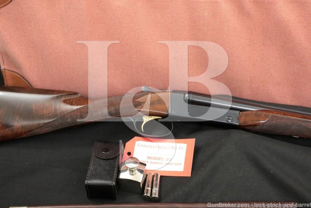 "Connecticut Shotgun MFG Model 21 like Winchester .410 30"" Skeet SxS Shotgun"
