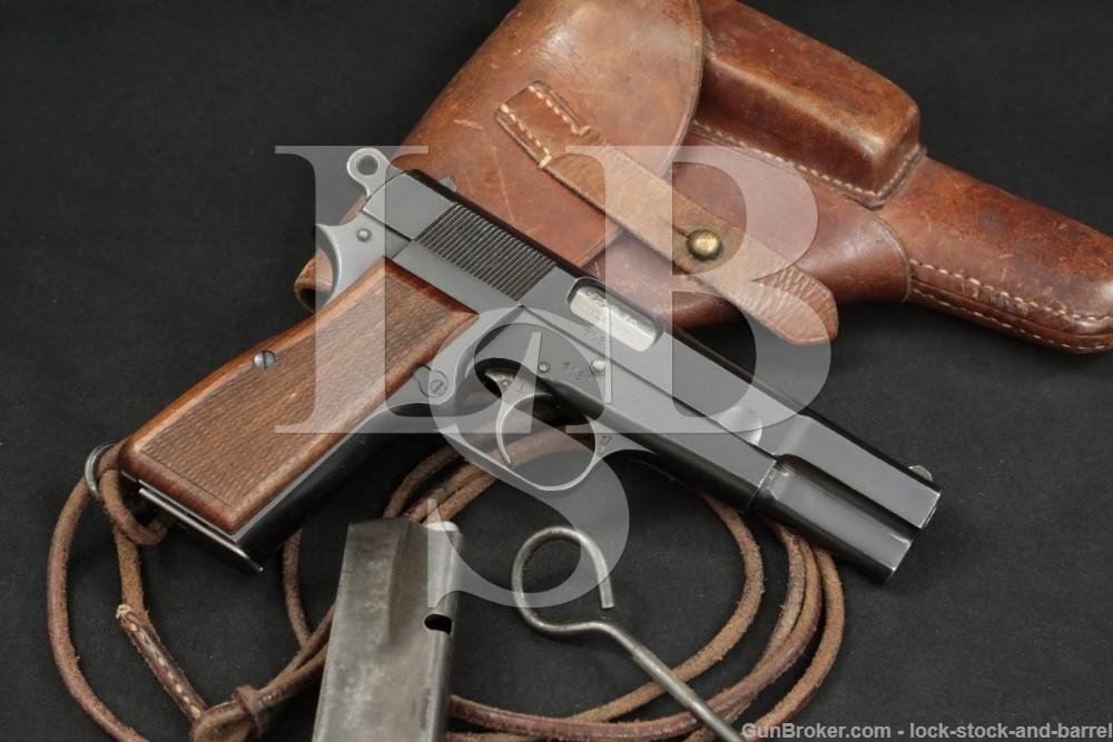 FN Browning 1935 GP Hi-Power Danish Contract HV 9mm Semi-Auto Pistol, C&R