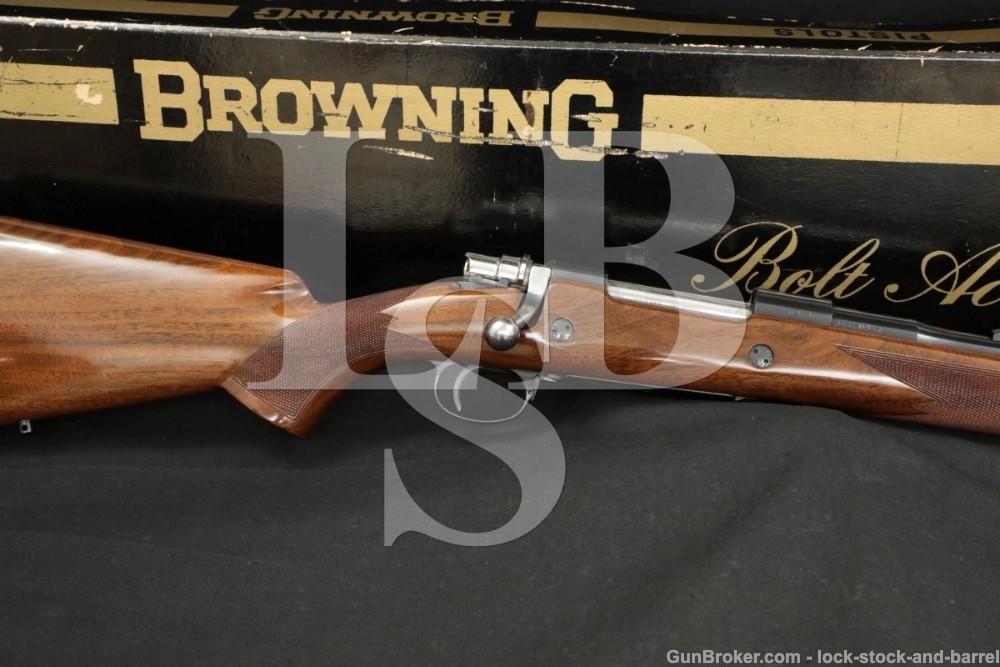 "FN Browning High Power Safari Grade .375 H&H Magnum 24"" Bolt Rifle MFD 1971"