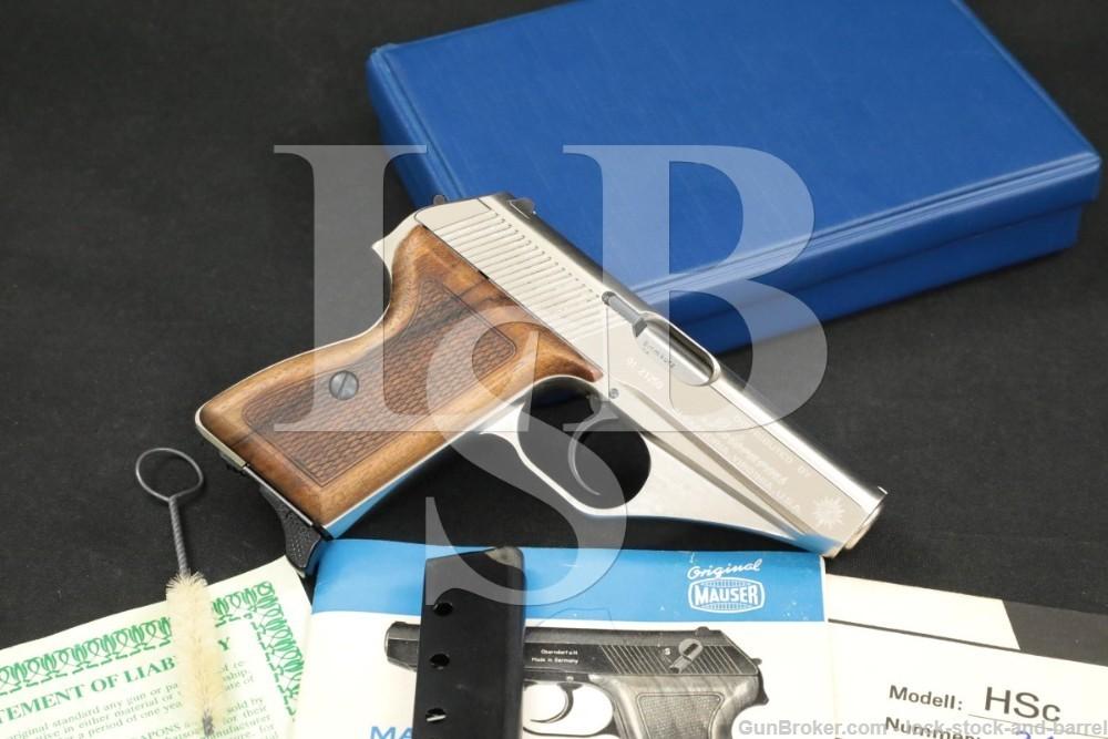 """Mauser Interarms Model HSc .380 ACP 3.25"""" Nickel DA/SA Semi-Auto Pistol"""