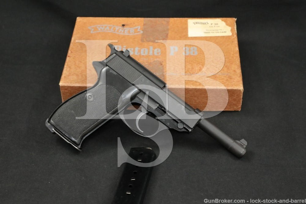 Norwegian Norway Walther P38 P-38 9mm Semi-Automatic Pistol, 1975 ATF C&R