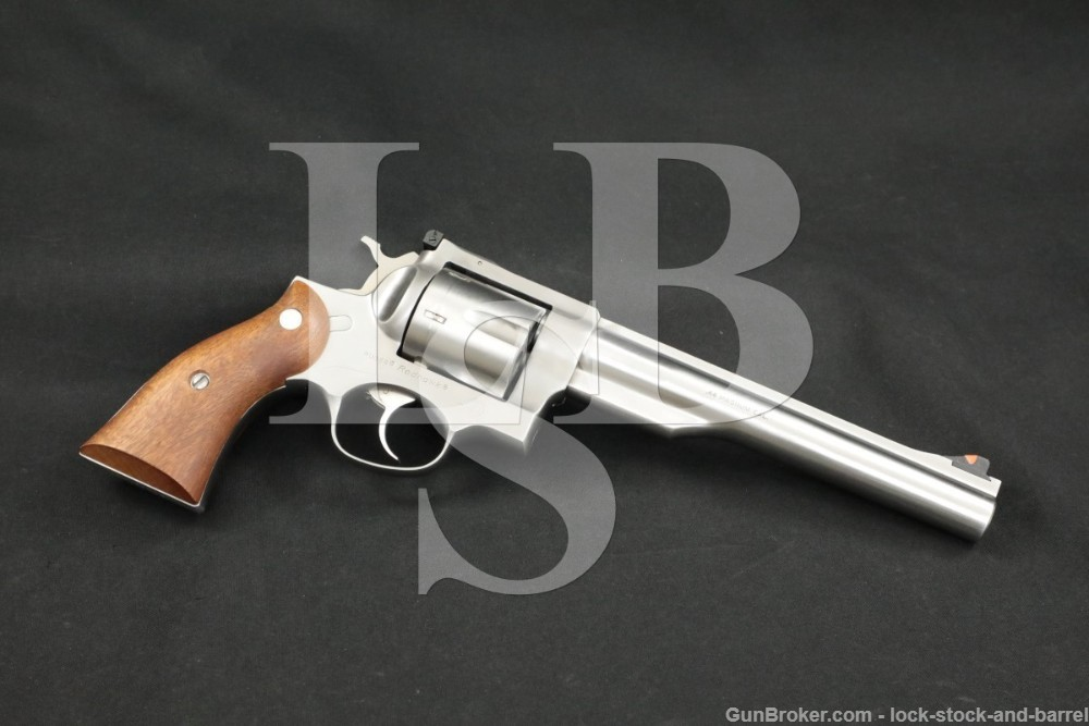 Ruger Redhawk .44 Magnum Stainless DA/SA Double-Action Revolver, MFD 1987