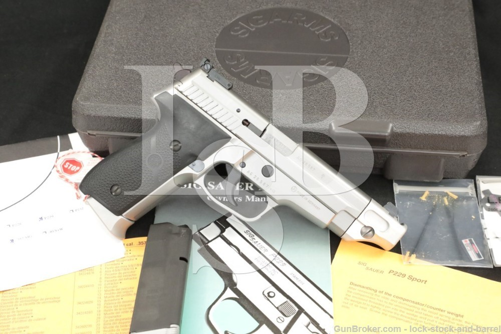 Sig Sauer P229S P-229S Sport Comp .357 Sig SA/DA Semi-Automatic Pistol 1998