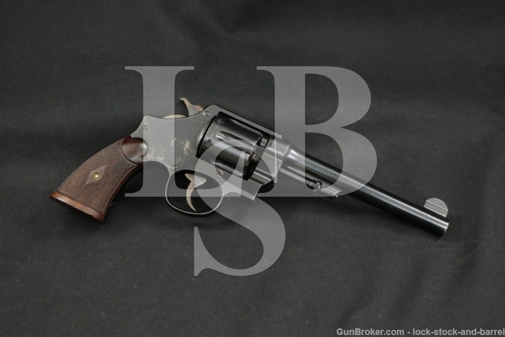 Smith & Wesson .44 Hand Ejector 2nd Model .44 Spl 6.5″ Revolver 1917 C&R