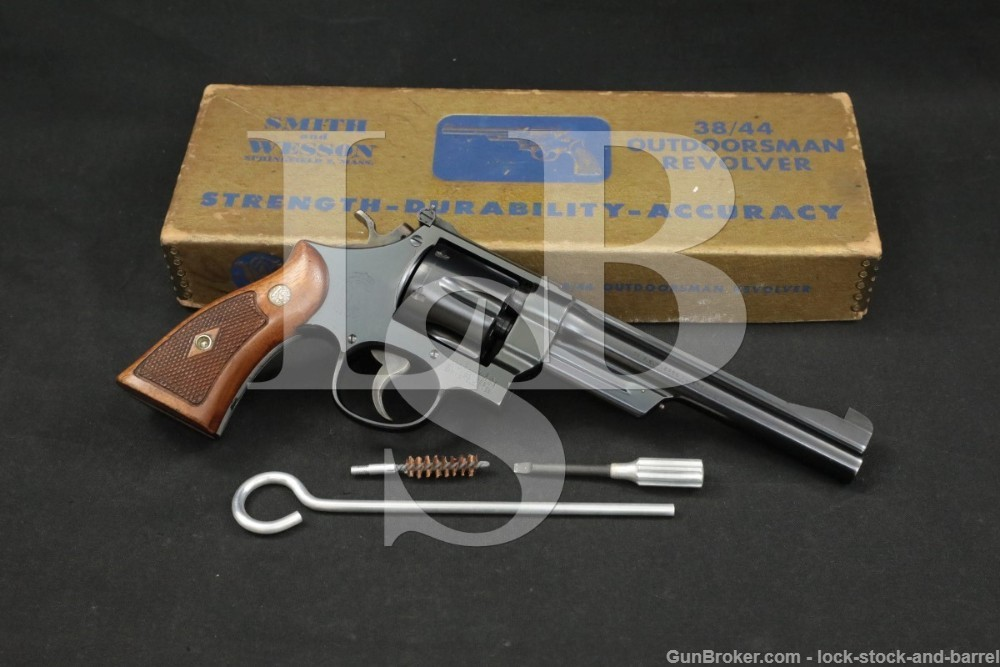 Smith & Wesson S&W Model 1950 .38/44 Outdoorsman .38 Spl 6.5″ Revolver C&R