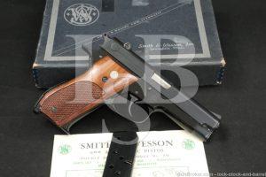 """Smith & Wesson S&W Model 39 9mm 4"""" SA/SA Semi-Automatic Pistol MFD C&R"""
