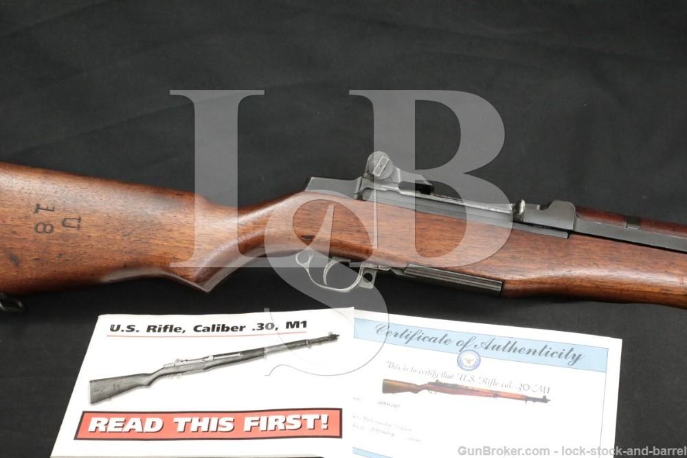 Springfield M1 Garand .30-06 CMP Certificate Semi Automatic Rifle 1944 C&R