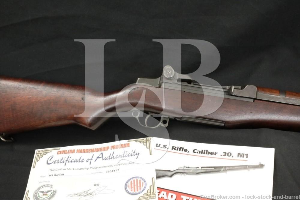 Springfield M1 Garand .30-06 CMP Certificate Semi Automatic Rifle 1945 C&R