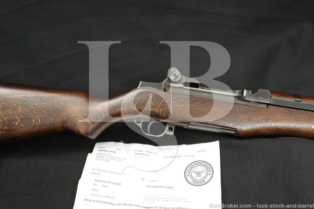Springfield M1 Garand Danish CMP Papers .30-06 Semi Automatic Rifle C&R
