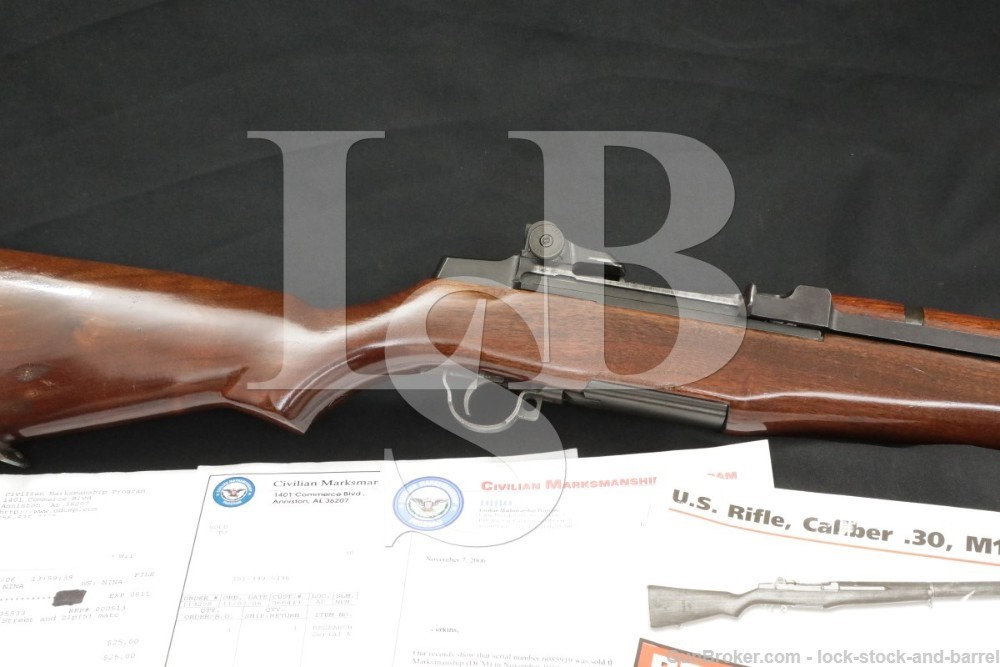 Springfield M1 Garand National Match Rifle CMP .30-06 Semi Automatic C&R
