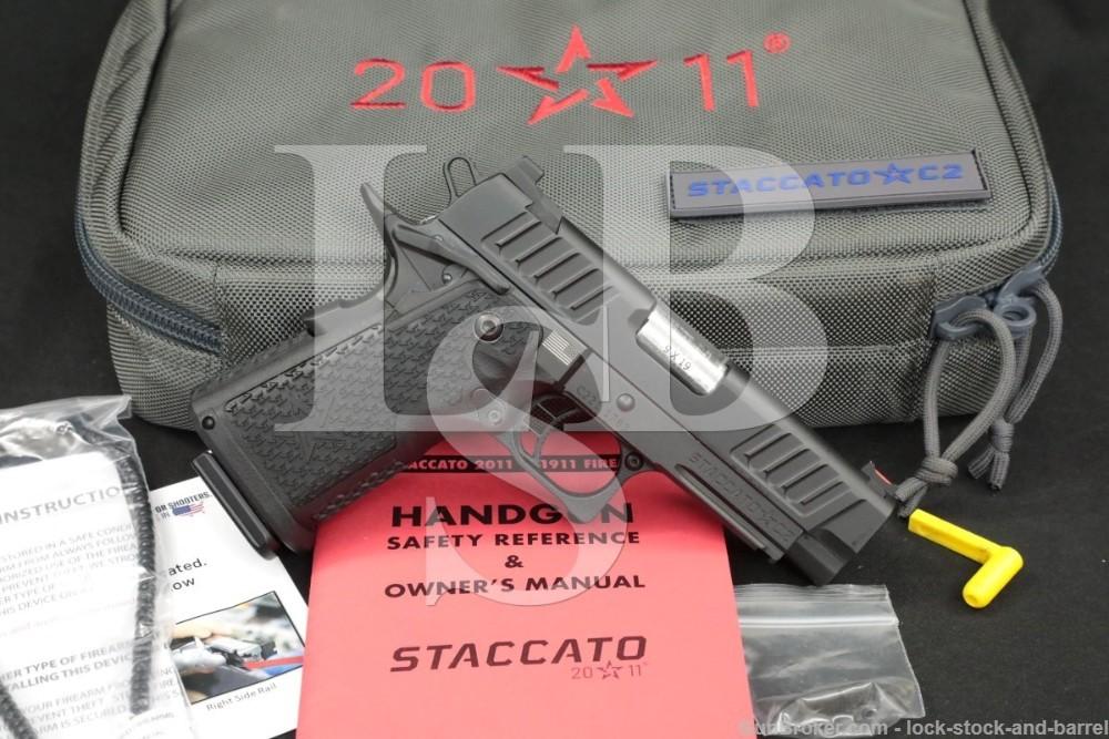 """Staccato STI Model C2 9mm 3.9"""" 2011 Double Stack 1911 Semi-Auto Pistol"""