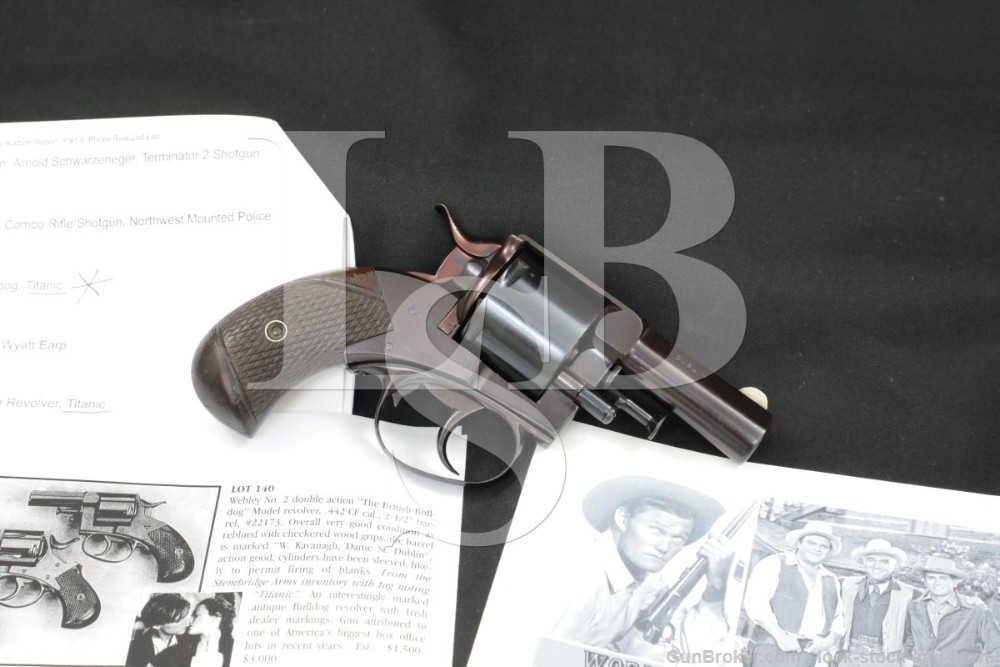 Stembridge Movie Webley No. 2 British Bulldog .442/.38 Blank Revolver, C&R