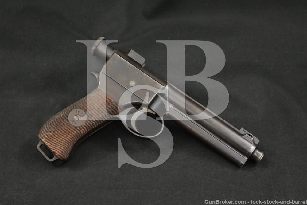 WWI Austria-Hungary Roth Krnka M1907 8x18mm Semi-Automatic Pistol, 1911 C&R