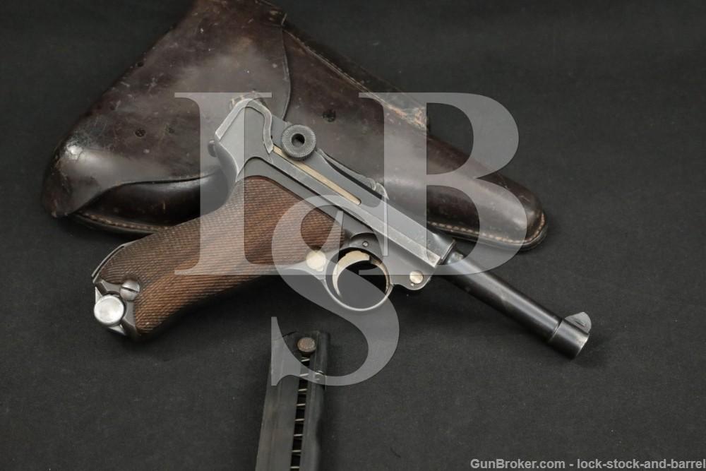 WWI German Erfurt P.08 P08 P-08 Luger 9mm Semi-Automatic Pistol, 1916 C&R