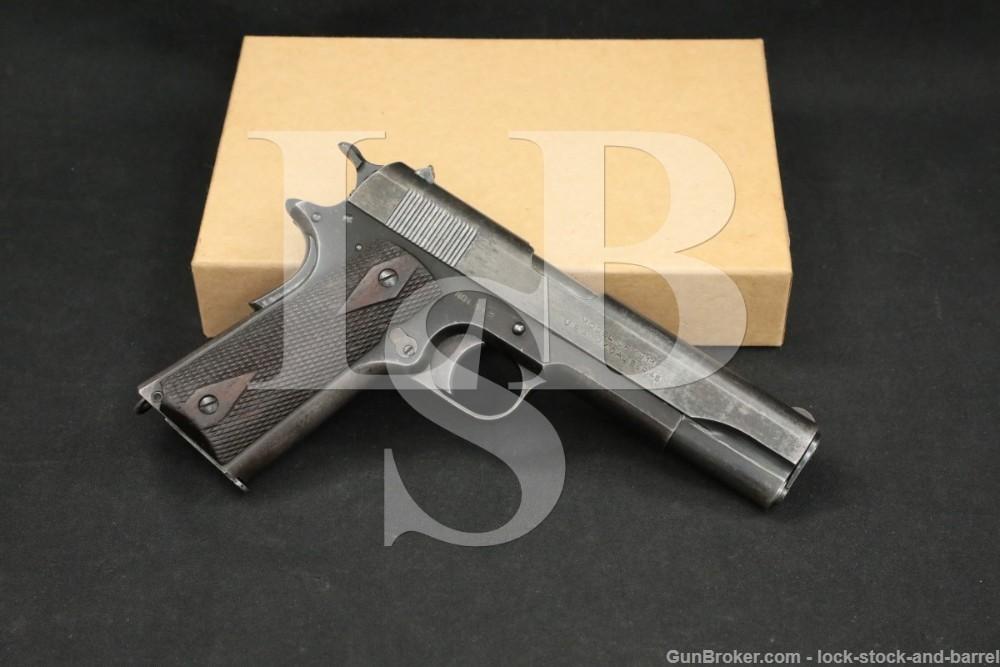 WWI Remington UMC Model of 1911 US Army .45 ACP Semi-Auto Pistol, 1918 C&R