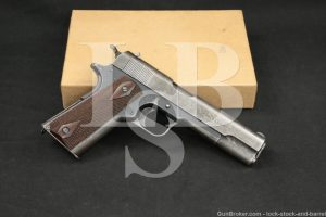 WWI US Colt Model of 1911 U.S. Army .45 ACP Semi-Automatic Pistol, 1917 C&R