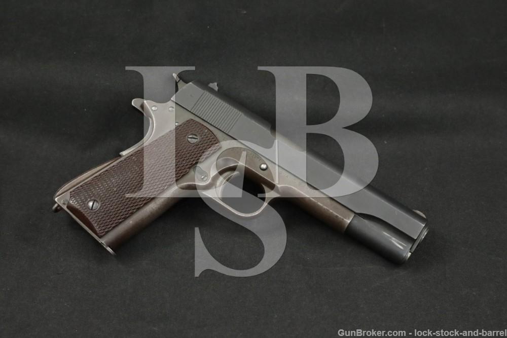 WWII Colt US Model 1911A1 1911-A1 .45 ACP Semi-Automatic Pistol, 1941 C&R