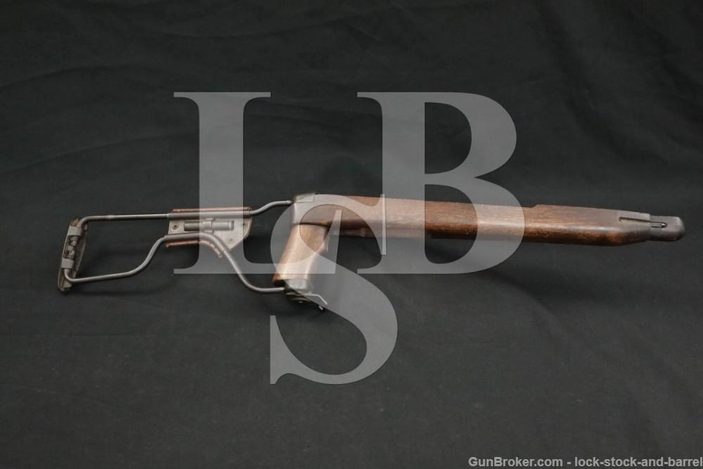 "WWII Inland M1A1 M1 .30 Carbine Folding Paratrooper Rifle Stock ""IO"" & ""P"""