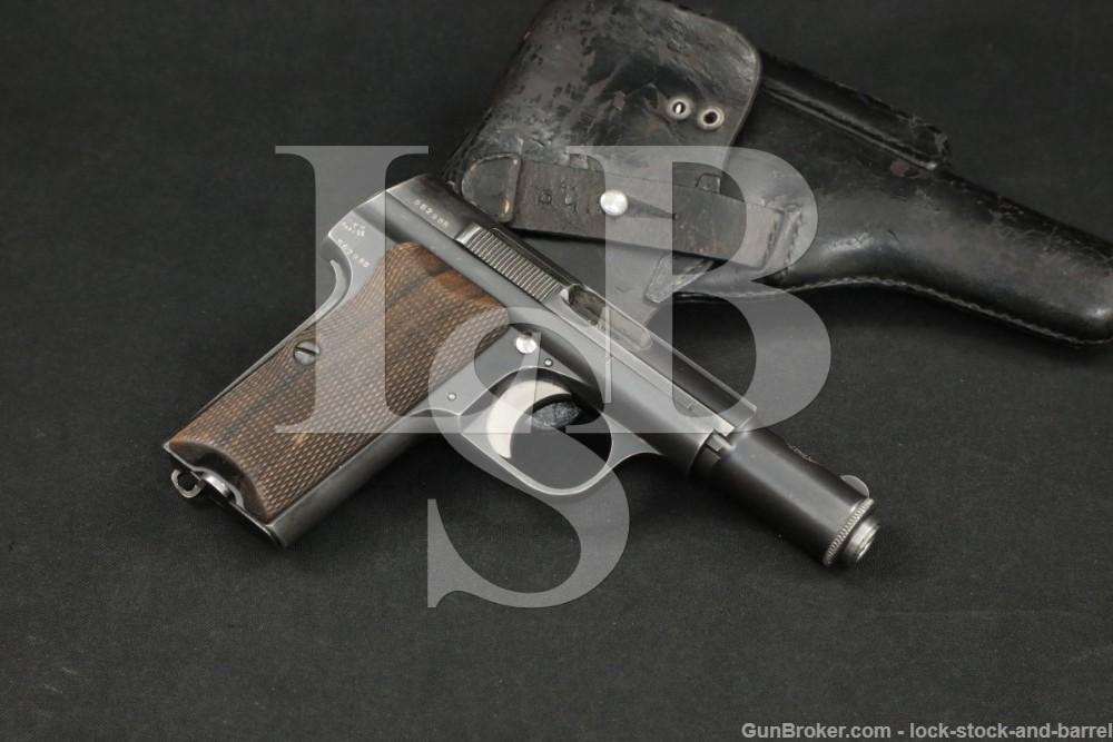 WWII Nazi Astra 300 9mm Kurz Short .380 ACP Semi-Automatic Pistol, 1942 C&R
