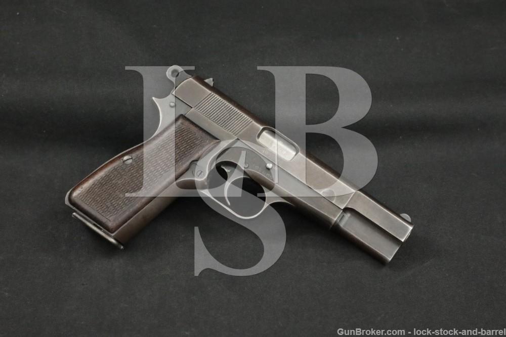 WWII Nazi Marked FN M1935 Hi Power Fixed Sight 9mm Semi-Auto, 1942-1943 C&R