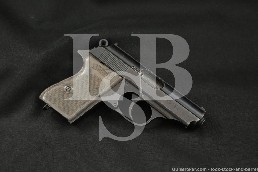 WWII Nazi Police Walther PPK .32 ACP 7.65mm Semi-Automatic Pistol, 1942 C&R