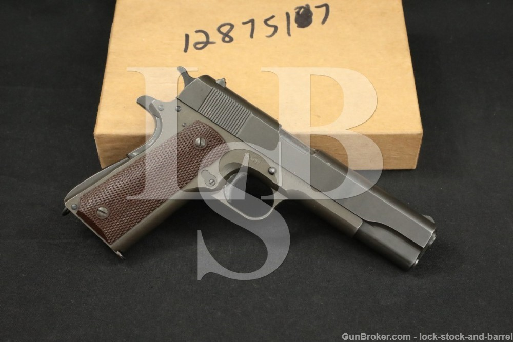 WWII Remington Rand M1911A1 1911-A1 .45 ACP Semi-Automatic Pistol, 1943 C&R
