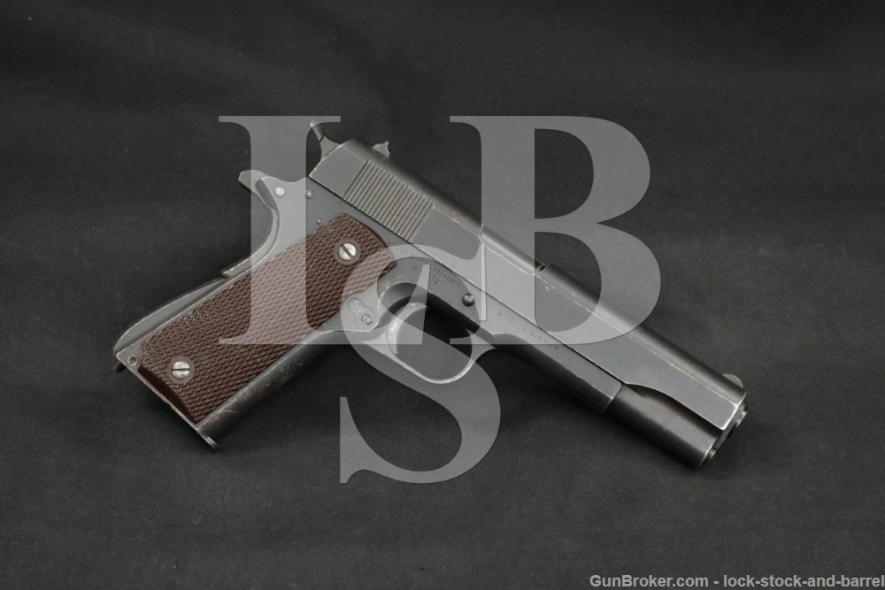 WWII US Army Colt 1911A1 1911-A1 .45 ACP Semi-Automatic Pistol, 1942 C&R