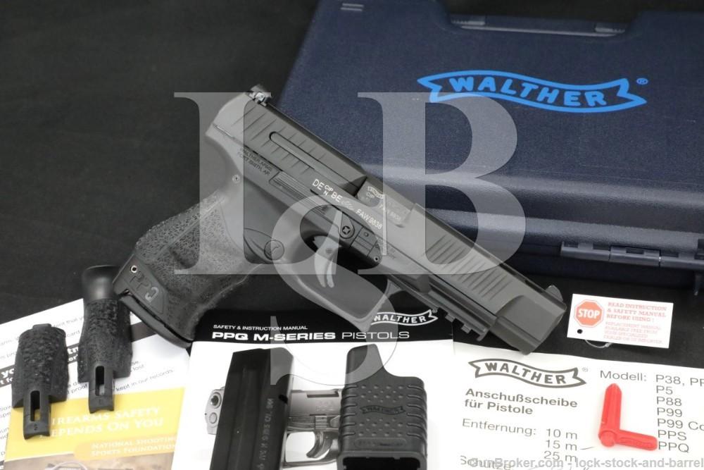 """Walther Model PPQ M2 9mm 5"""" Striker Fired Semi-Automatic Pistol, MFD 2014"""