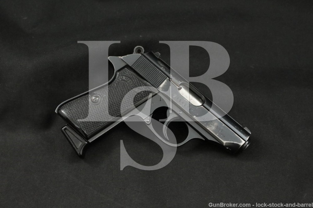 West German Walther PPK/S Blue 9mm Kurz .380 ACP Semi-Automatic Pistol 1972