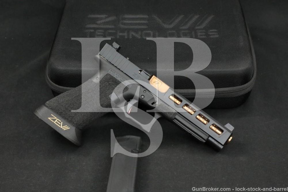 """Zev Custom Glock Model 34 9mm 5.32"""" RMR Cut Stippled Semi-Automatic Pistol"""