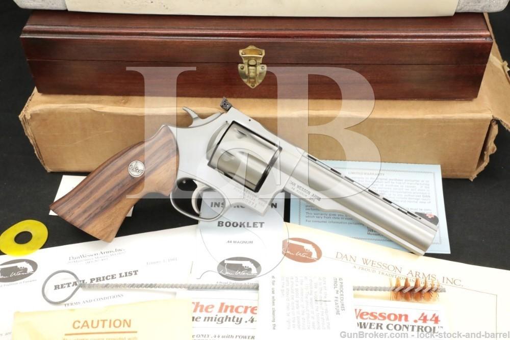 "71 of 250 Dan Wesson Monson Model 44V Second Run .44 Mag 6"" Revolver"