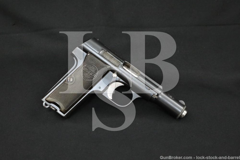 Astra Model 300 9mm .380 ACP Single Action Semi-Automatic Pistol, 1940 C&R