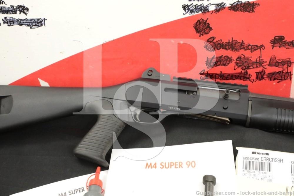 "Benelli Model M4 Tactical 12 ga 3"" Semi Automatic Shotgun & Box MFD 2006"