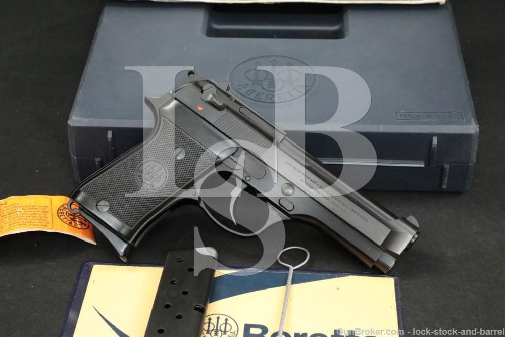 Beretta 92SB 92-SB PO9219CM 9mm Para SA/DA Semi-Automatic Pistol, MFD 1989