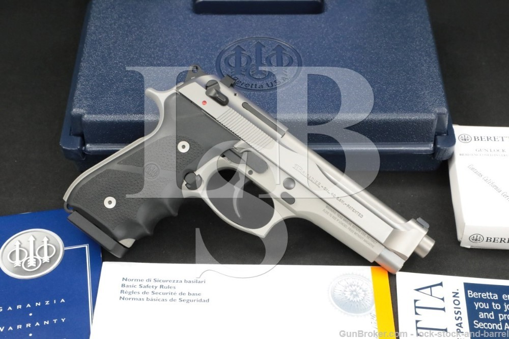 Beretta Brigadier 96 Inox .40 S&W Stainless DA/SA Semi-Auto Pistol MFD 2007