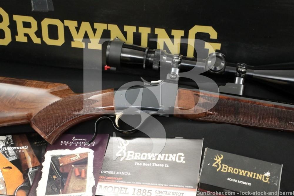 "Browning USA 1885 Low Wall .223 Remington 24"" Falling Block Rifle, MFD 1995"