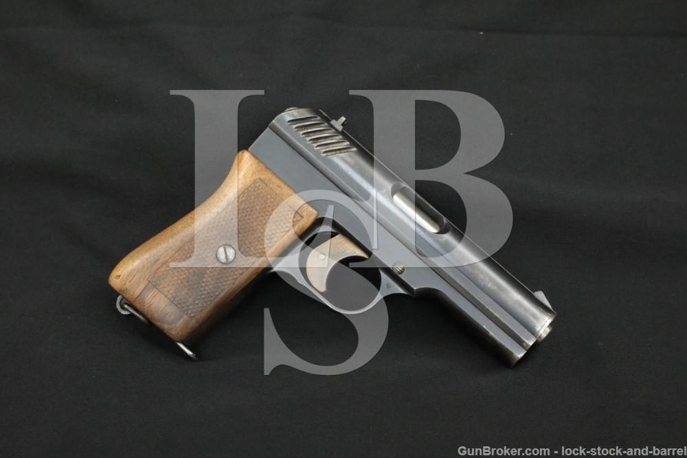 Ceska Zbrojovka Brno Vz. 22 9mm Nickl .380 ACP Rimless Semi-Auto Pistol C&R