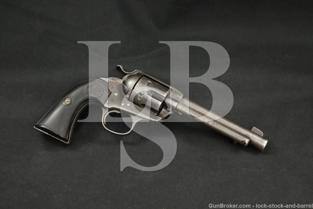Colt 1st Gen Bisley Model Single Action Army SAA .45 Revolver, MFD 1912 C&R