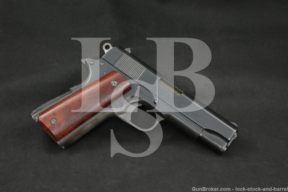 Colt Combat Commander Pre-Series 80 1911 9mm Semi-Automatic Pistol MFD 1976