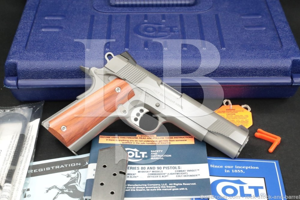 Colt Government Model Enhanced XSE Stainless 1911 .45 ACP Semi-Auto Pistol